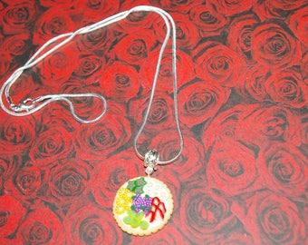 Tutti fuiti polymer clay tart necklace