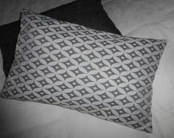 Gray and white pillow cover geometric