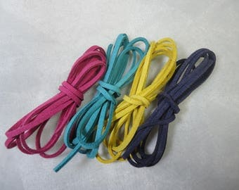 4 m cord flat suede color