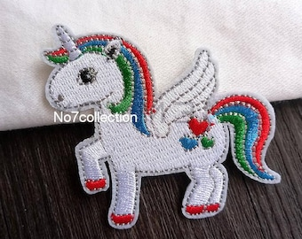 Cute White Unicorn Patch
