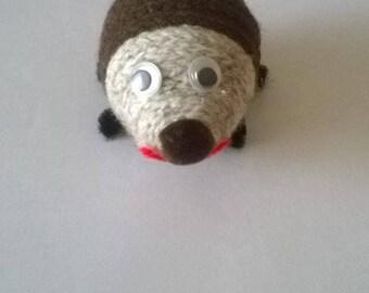 Handmade knitting wool Hedgehog.