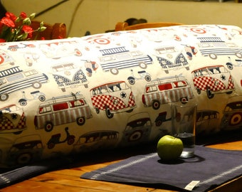 Hand made Camper Cushion by Raw-artt  with tie sides for easy removal