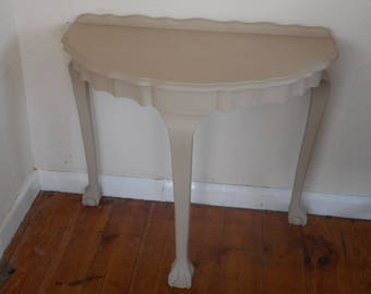 3 legged claw foot console table hand painted