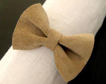 Bracelet chain & beige bow