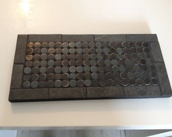 Wood and tile trivet