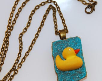 My little yellow duck necklace
