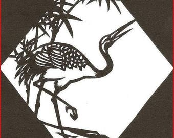 'Crane' on canson paper