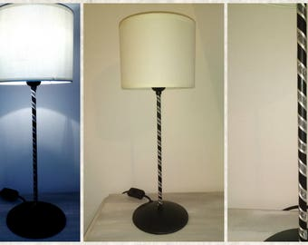 table lamp in iron black and sand