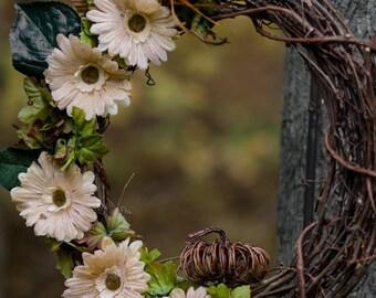 Wreaths for Front Door, wreaths for all seasons, Spring Wreath, Door Wreath, Flowered Wreath, Handmade Wreath, Pumpkin Wreath