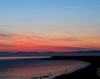 Myroe Sea Wall at Sunset