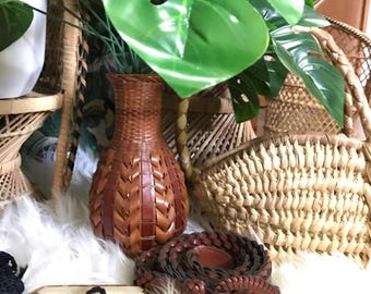 Vintage Wicker Vase