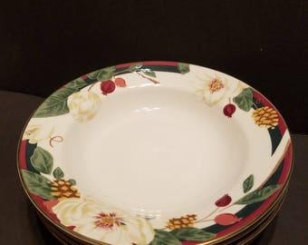 Tienshan Magnolia 8 Inch Bowls, Set Of 4