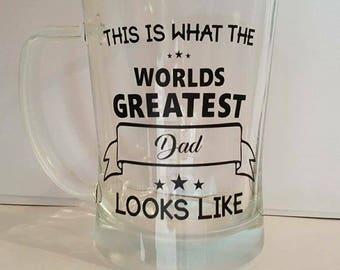 Fathers Day beer mug