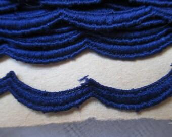 5 meters of Navy Blue trim in 1 cm in height
