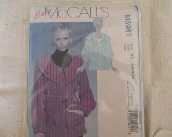 34,36,38,40 jacket coat woman, McCall pattern ' S
