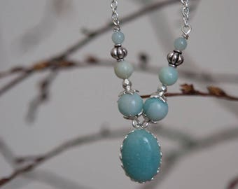 Amazonite necklace, handmade!