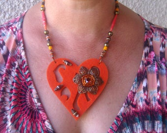 Crazy crazy crazy heart NECKLACE!