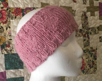 Make Your Own Reversible Diamond Ear Warmers, knitting pattern, easy knitting pattern