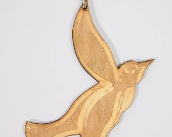 Wooden bird pendant, wooden bird necklace, bird pendant, bird necklace, wooden bird, bird, wood bird pendant, birch plywood from Finland