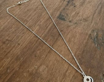 Sequin stainless steel necklace