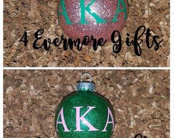 Alpha Kappa Alpha Christmas Bulb