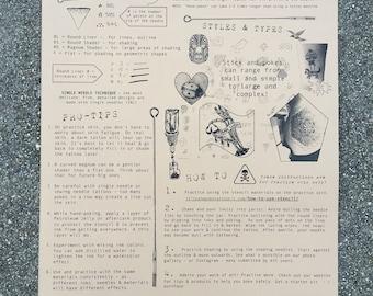 DIY Practice Tattoo Poster