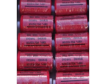 wire red polyester 1000 yards
