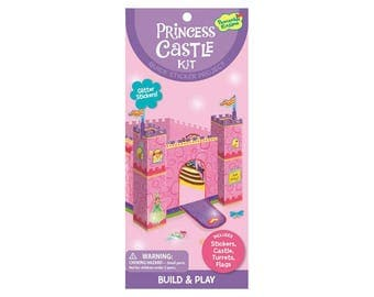 Princess theme stickers / to assemble and decorate with stickers Princess Castle / creative Kit DIY