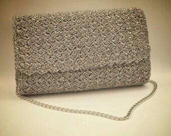 Glitzy grey sequin bag