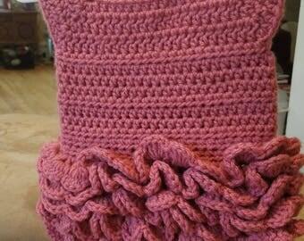 Crochet Rose Newborn Dress