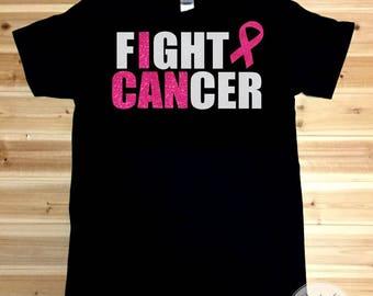 Breast Cancer Awareness Shirt, Shirt for Women, Fight Cancer, I Can, Womens Shirt, T Shirt For Women, Breast Cancer Shirt, Womens T Shirt
