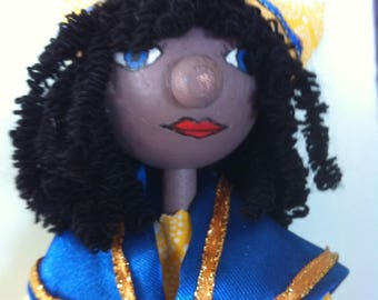 """The little Martiniquaise"" marionette"