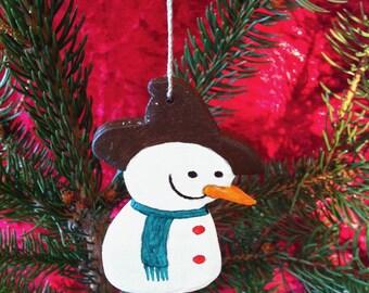 Décoration de Noël à suspendre en Bois peint