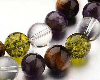 32 pearls semi precious mixed 10 mm - Pearl fine mixed 10 mm stone - semi precious mixed 10mm stone