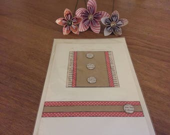 Blank A5 greetings card
