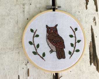 Owl Portrait 1 Embroidery