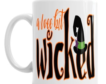 Wee Bit Wicked Witches Halloween Novelty Ceramic Coffee Mug Gift