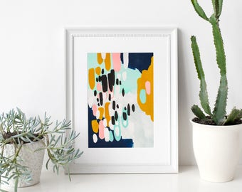 """abstract painting, acrylic painting, modern painting, pastel colors abstract painting, original art, original painting - """"Finding Treasures"""""""