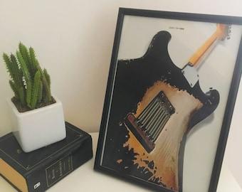 Fender Stratocaster - Framed A4 Guitar Art
