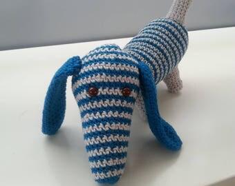 100% Handmade Crochet Dog Doudou