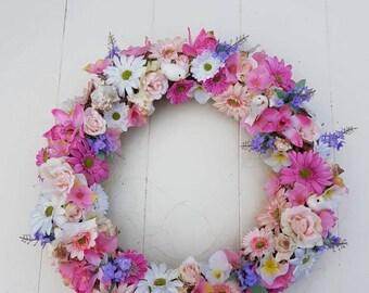 Garland//door hanger//gift//handmade//different flowers and colors//birds/gift/decoration/shells/mother//second hand dealer