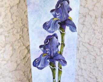 """Les Iris"" wooden vase"