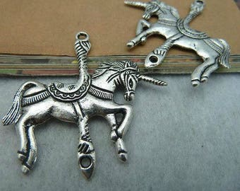 A Unicorn pendant silver 45 x 44 mm