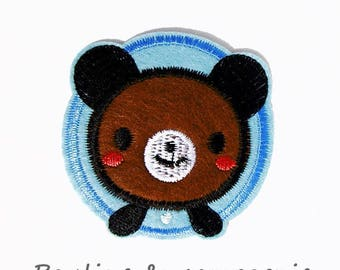 Applique 1 thermocollante Patch badge iron Teddy bear pattern