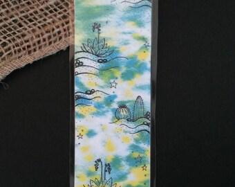 Succulent Printed Bookmark