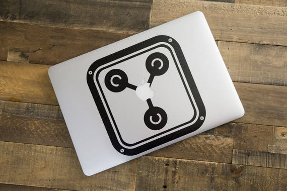 Flux Capacitor Decal Sticker for Macbooks and other Laptops, Funny laptop decal, Time Travel, mac