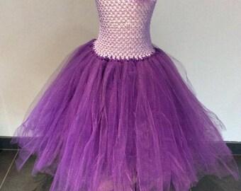 Purple tutu dress and purple 4-6 years