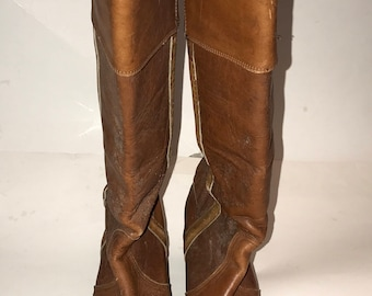 Frye Women's Vintage Brown Knee High Boots Size 8.5B