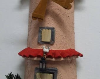 3D artistic tile depicting a windmill