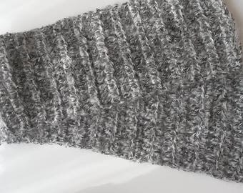 straight mohair and wool scarf gray Pearl